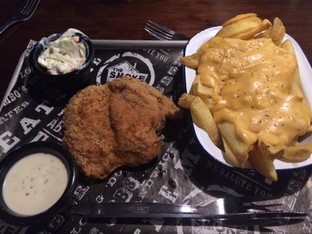Kansas chicken with cheesy fries
