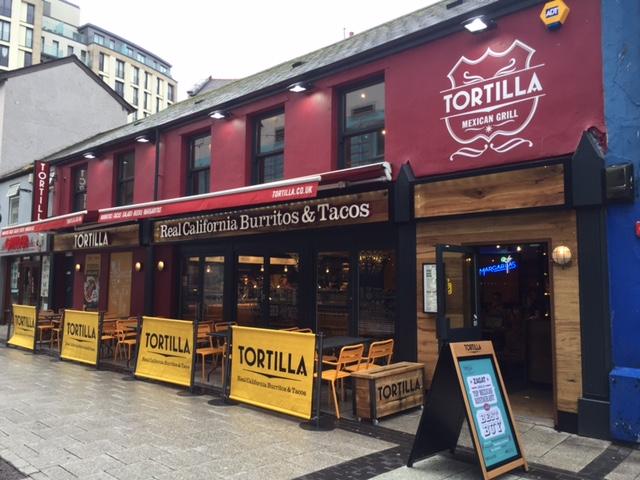 Tortilla restaurant on Caroline St, Cardiff