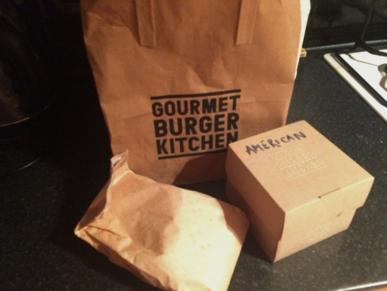 Gourmet Burger Kitchen delivery bags