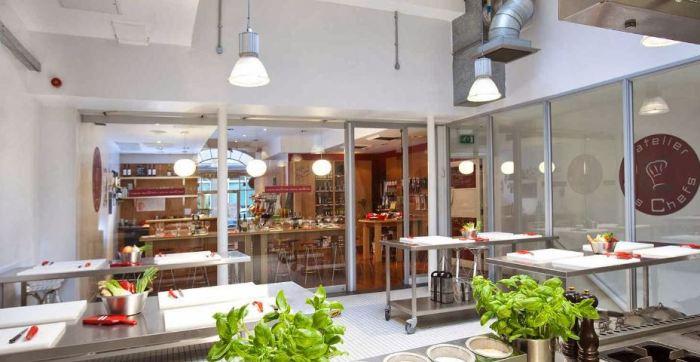 The kitchen at L'atelier des Chefs
