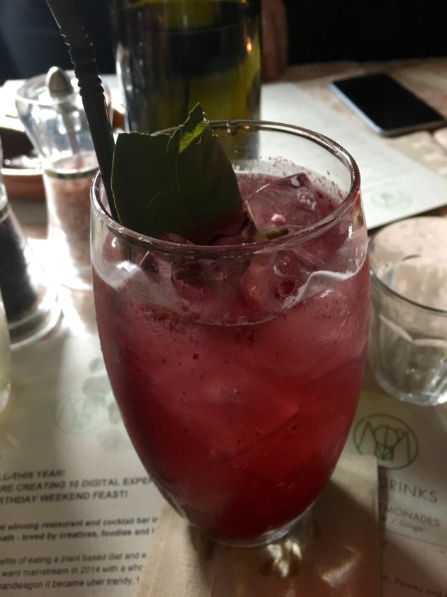 Blackberry-infused gin