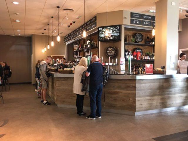 Bar at Cardiff Airport