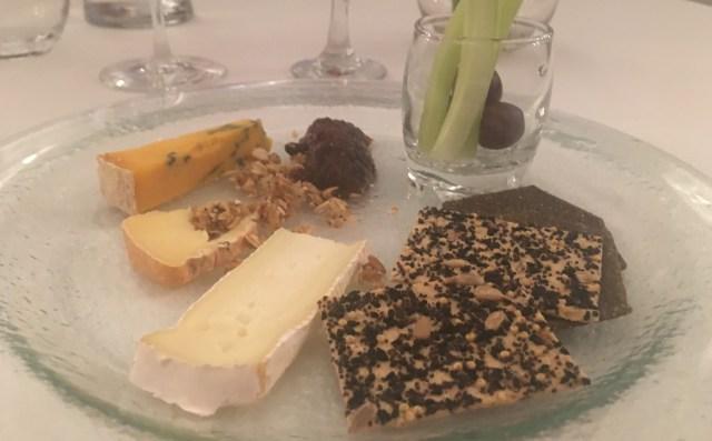 Cheese selection at Mojo FoodBar, Newport