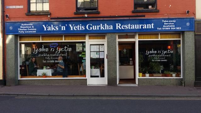 Yaks n Yetis Gurkha restaurant, Ross-on-Wye