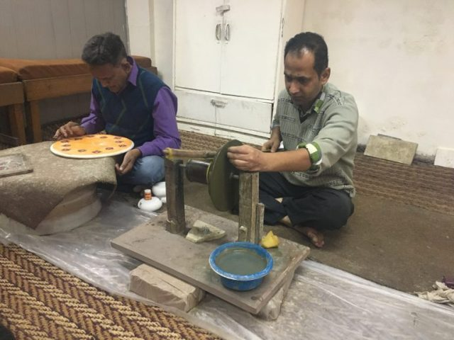 Making marble in Agra, India