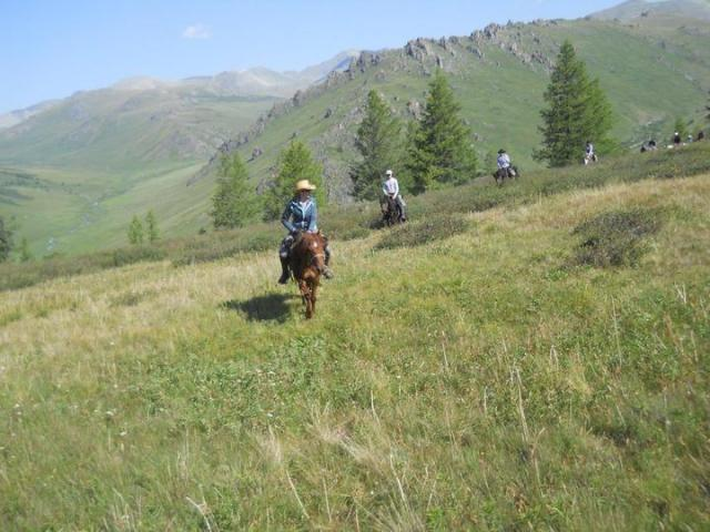 Mountain riding in Mongolia
