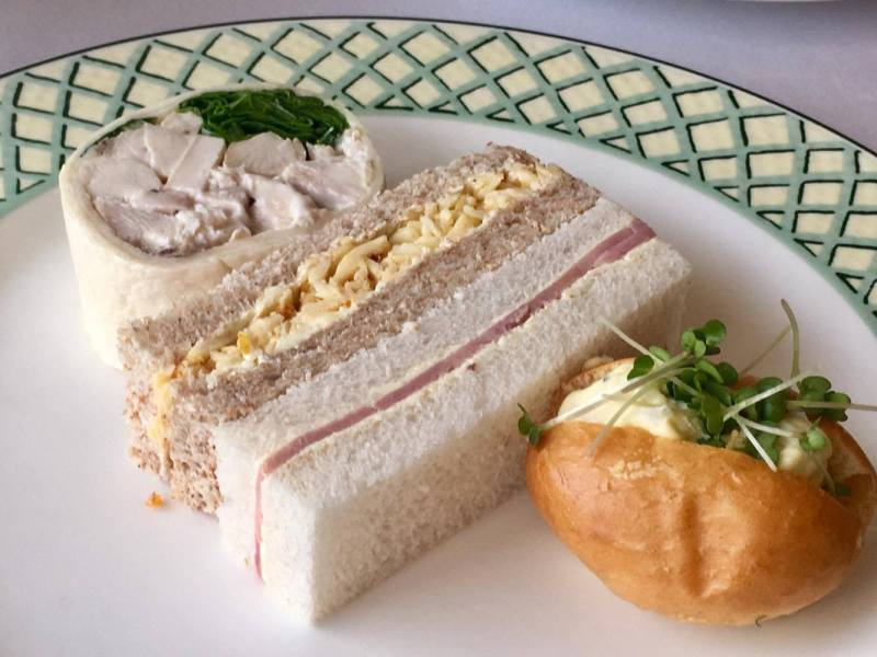 Sandwiches in Summer Berry Afternoon Tea at the Celtic Manor Resor