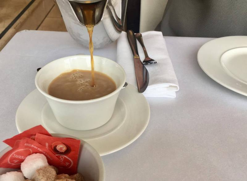 Coffee for afternoon tea at The Celtic Manor Resort