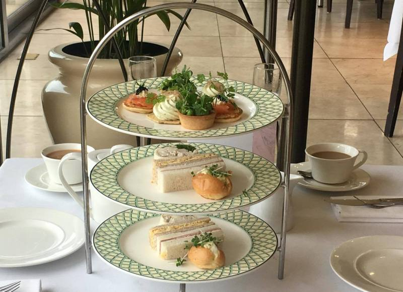 Savouries and sandwiches in Summer Berry Afternoon Tea at The Celtic Manor Resort