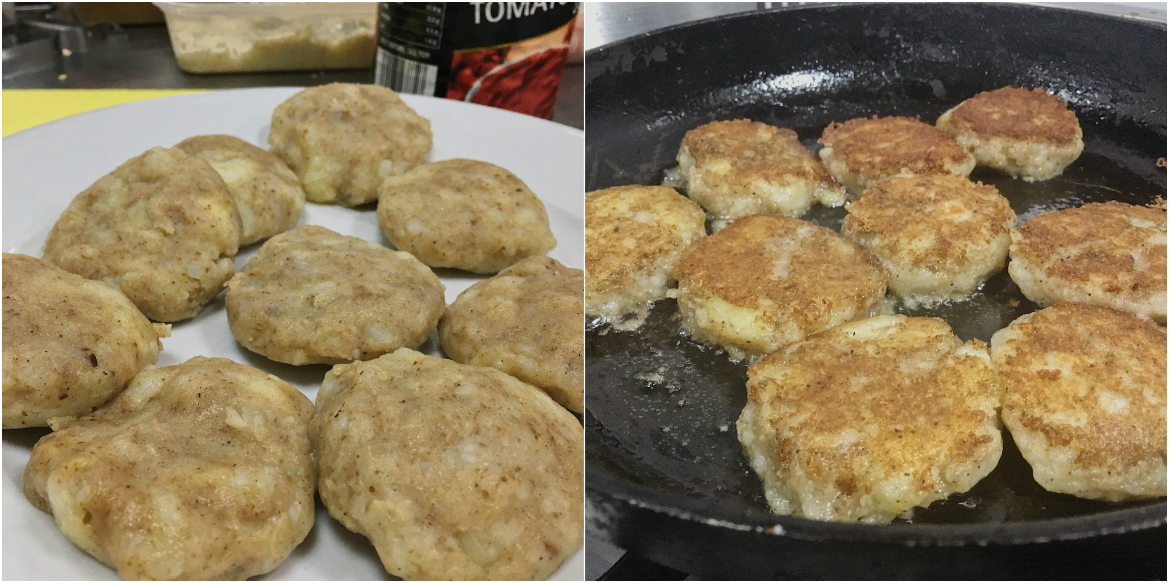 Potato patties at Moksh cookery class with Chef Stephen Gomes