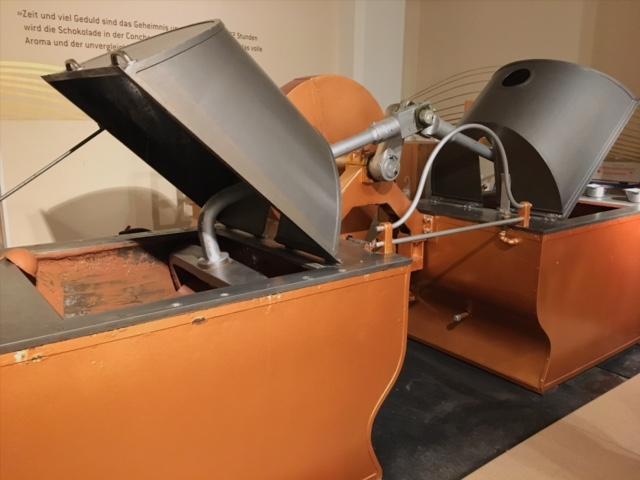 Conch machine at Chocoversum chocolate museum