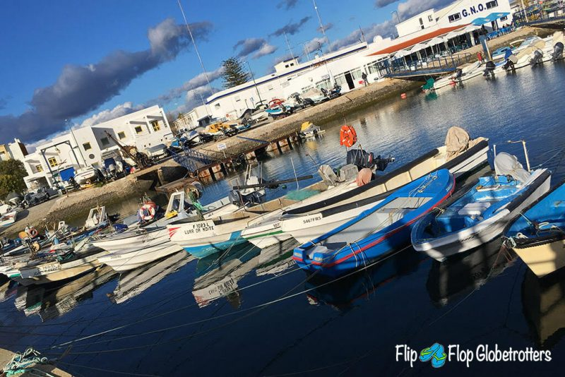 The fishing village of Olhao in the Algarve, Portugal - a great destination for a quiet Algarve holiday.