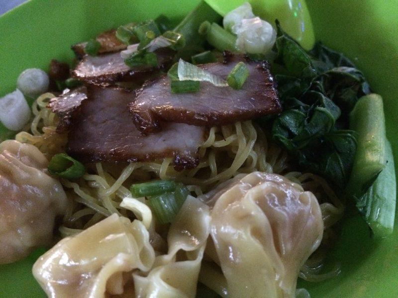 Traditional Singaporean Wanton Mee