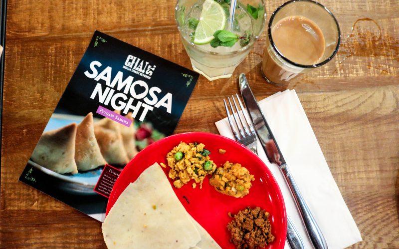 How to make samosas: samosa dough and fillings arranged on a plate.