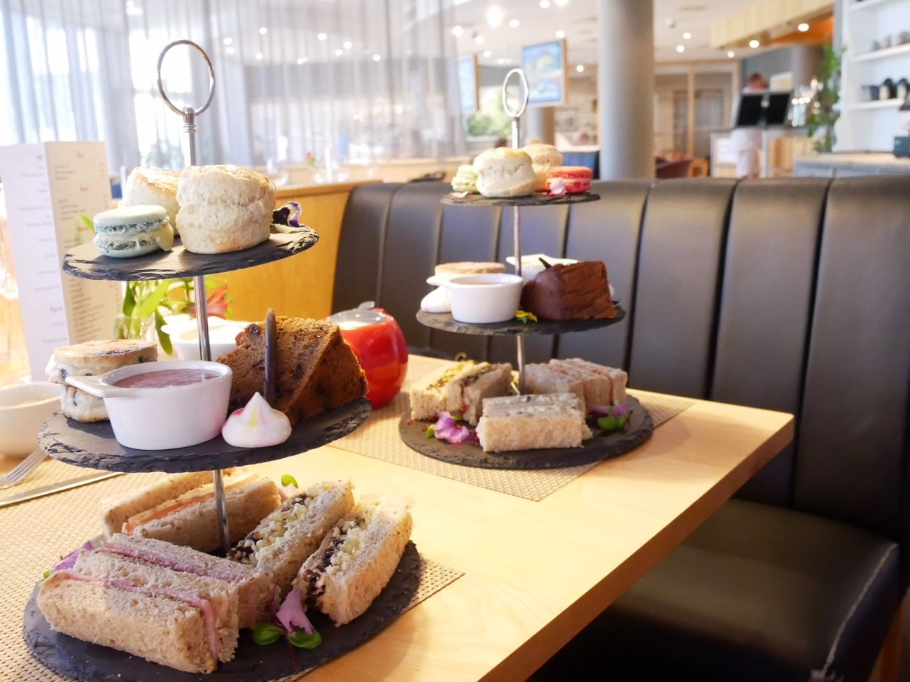 Afternoon tea in Cardiff Bay Future Inn's Thomas Restaurant