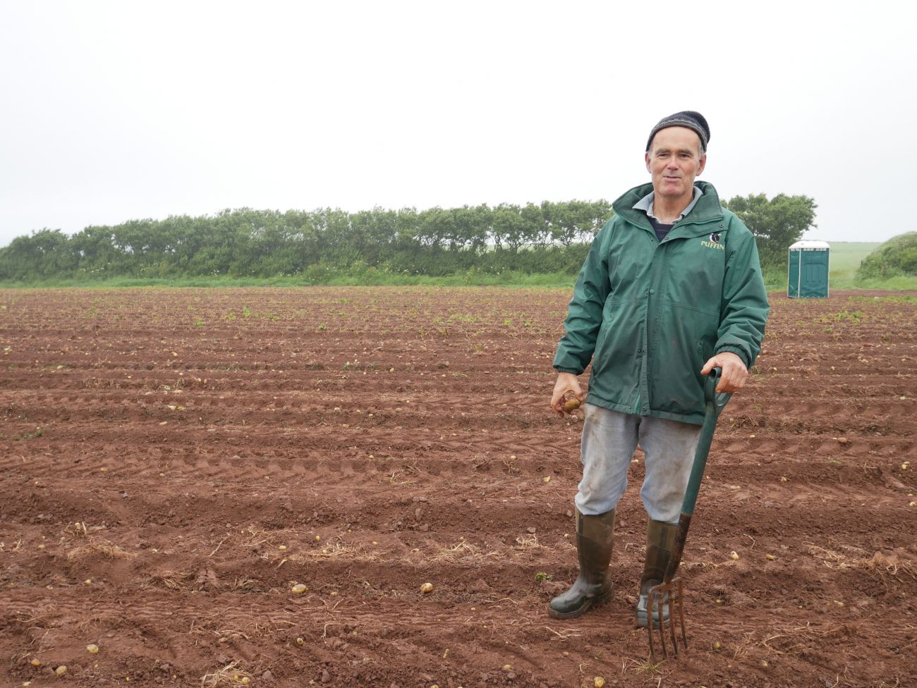 Farmer, Will Richards of Windmill Farm in Haverfordwest, Pembrokeshire