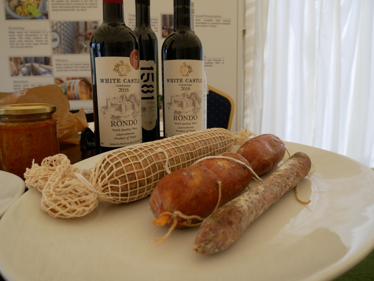 Wine and charcuterie