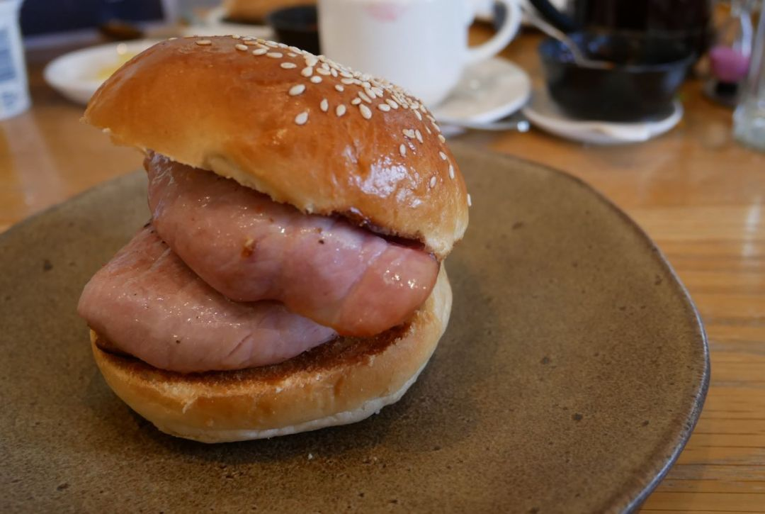 Bacon sandwich at Llanerch Vineyard