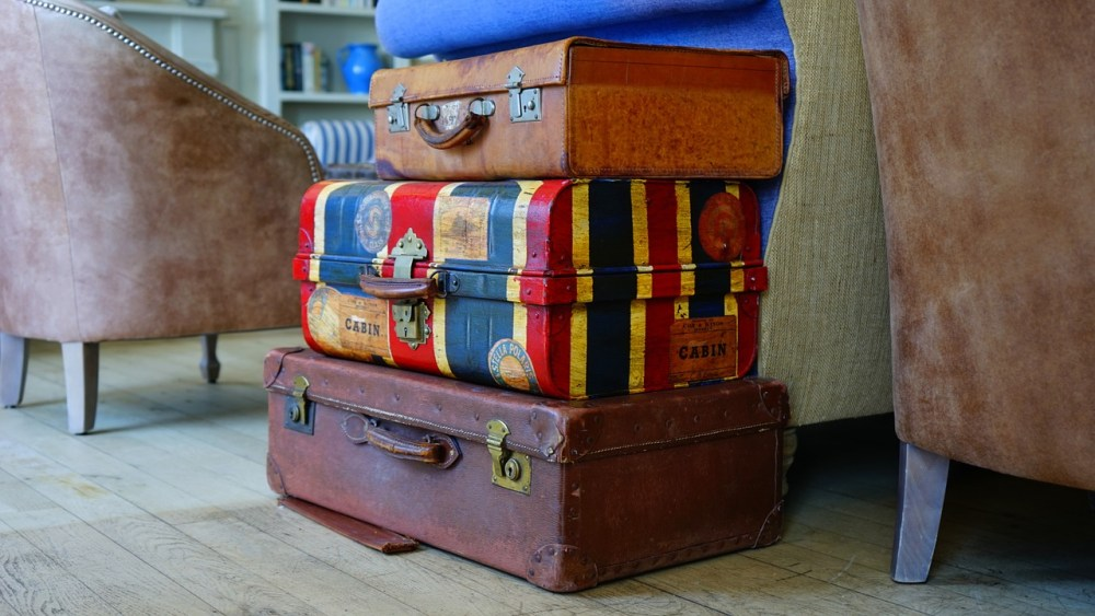 A stack of luggage