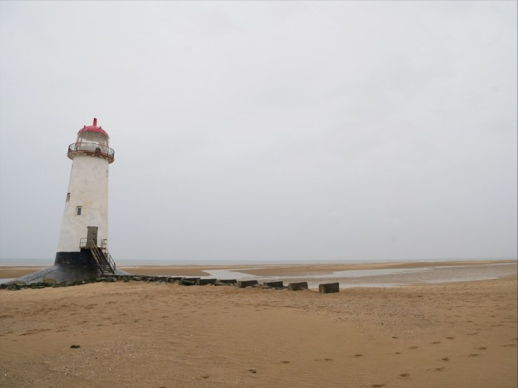 Point of Ayr Lighthouse, Talacre Beach in north east Wales