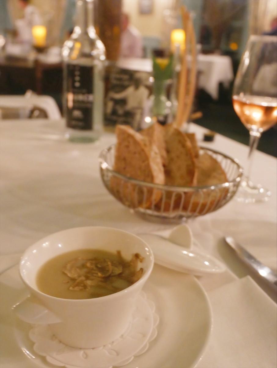 Jerusalem artichoke soup with truffle