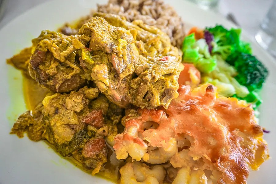Curried chicken is a popular Caribbean food