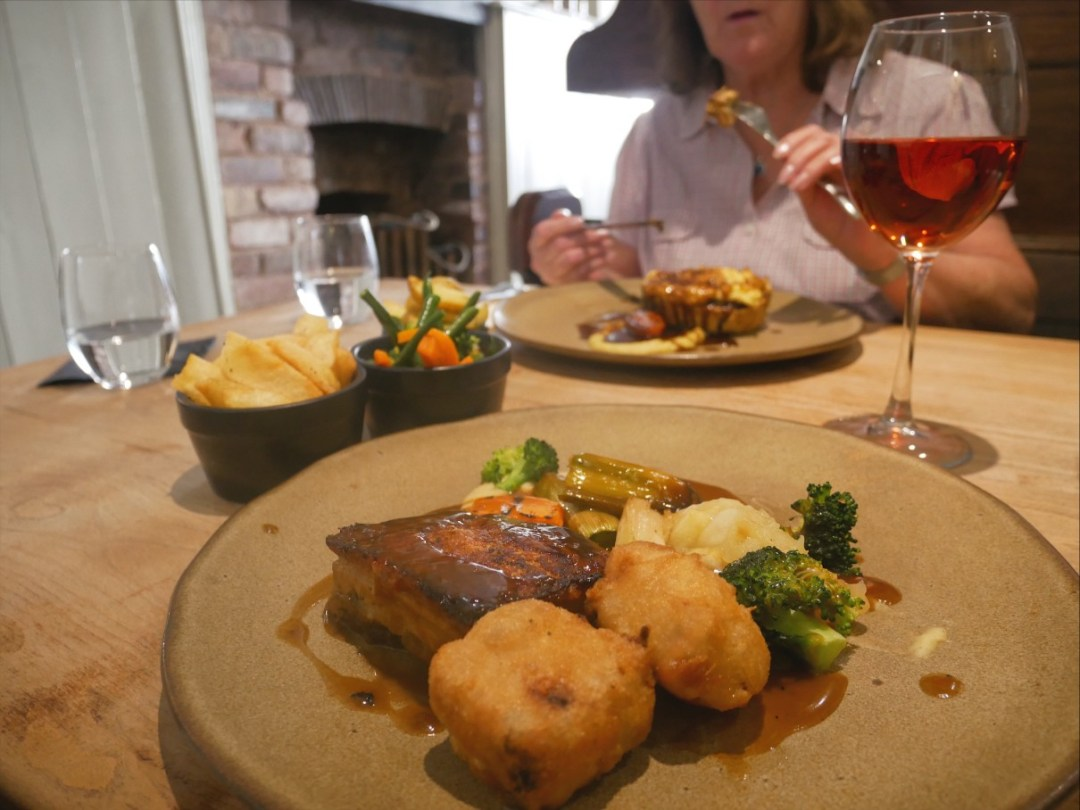 Belly pork at On the Hill in Ruthin, Denbighshire