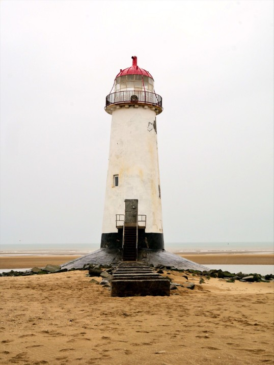 Point of Ayr Lighthouse on Talacre Beach, north east Wales