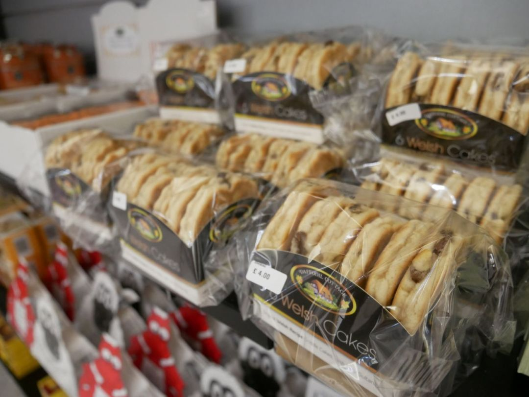 Welsh cakes on sale at Cardiff Airport