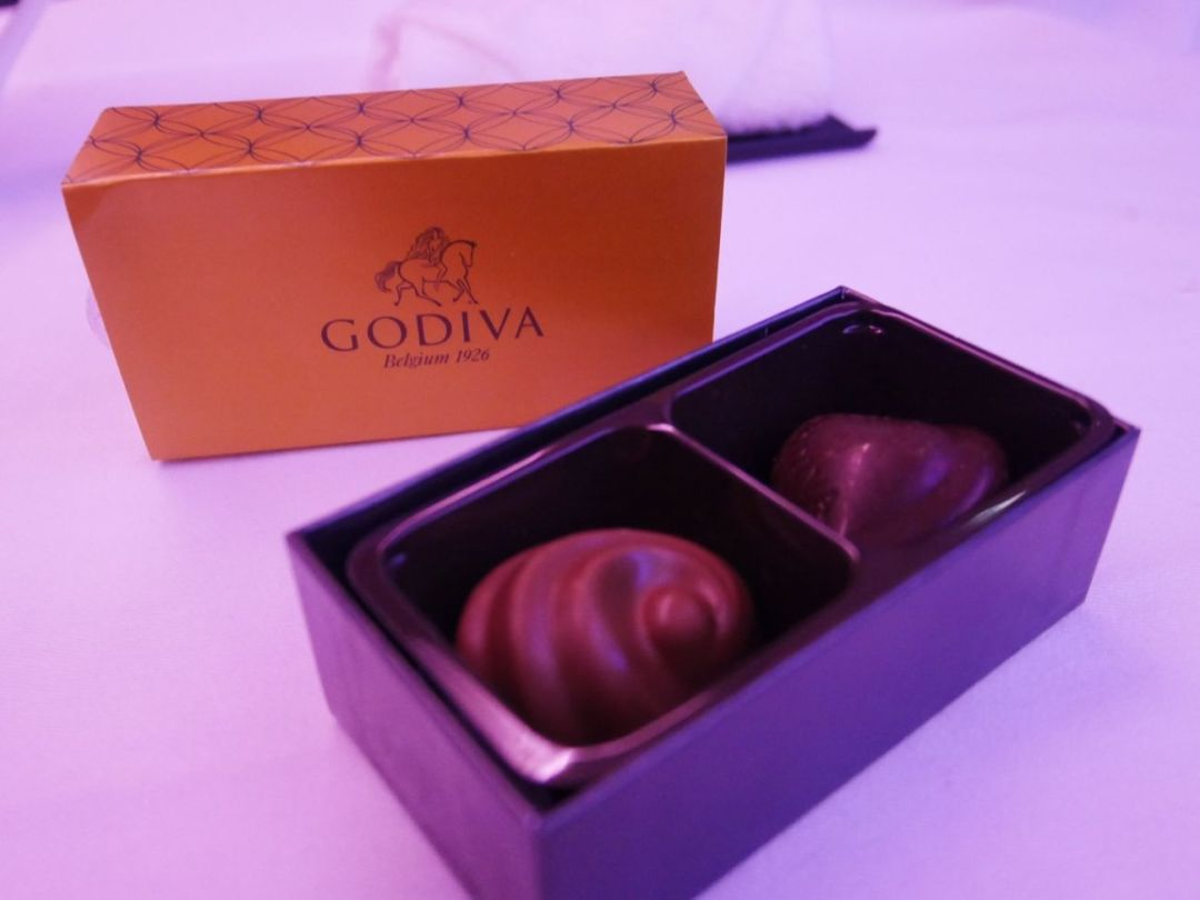 Godiva chocolates served on-board Qatar Airways