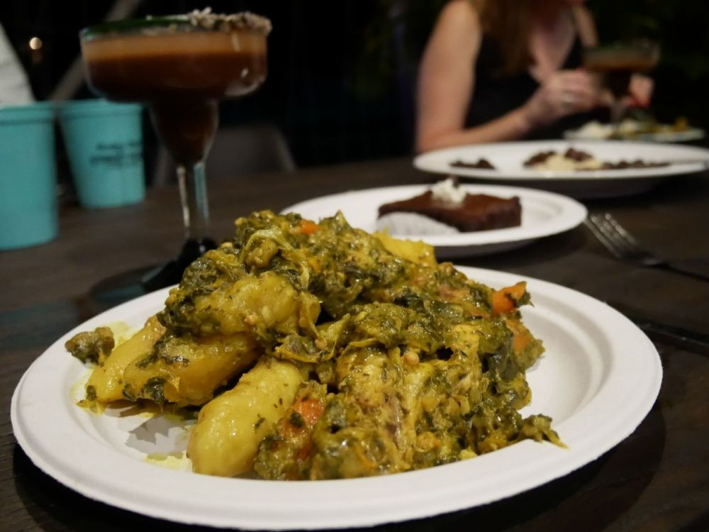 A plate of Oil Down; Grenada's national dish and a popular Caribbean food