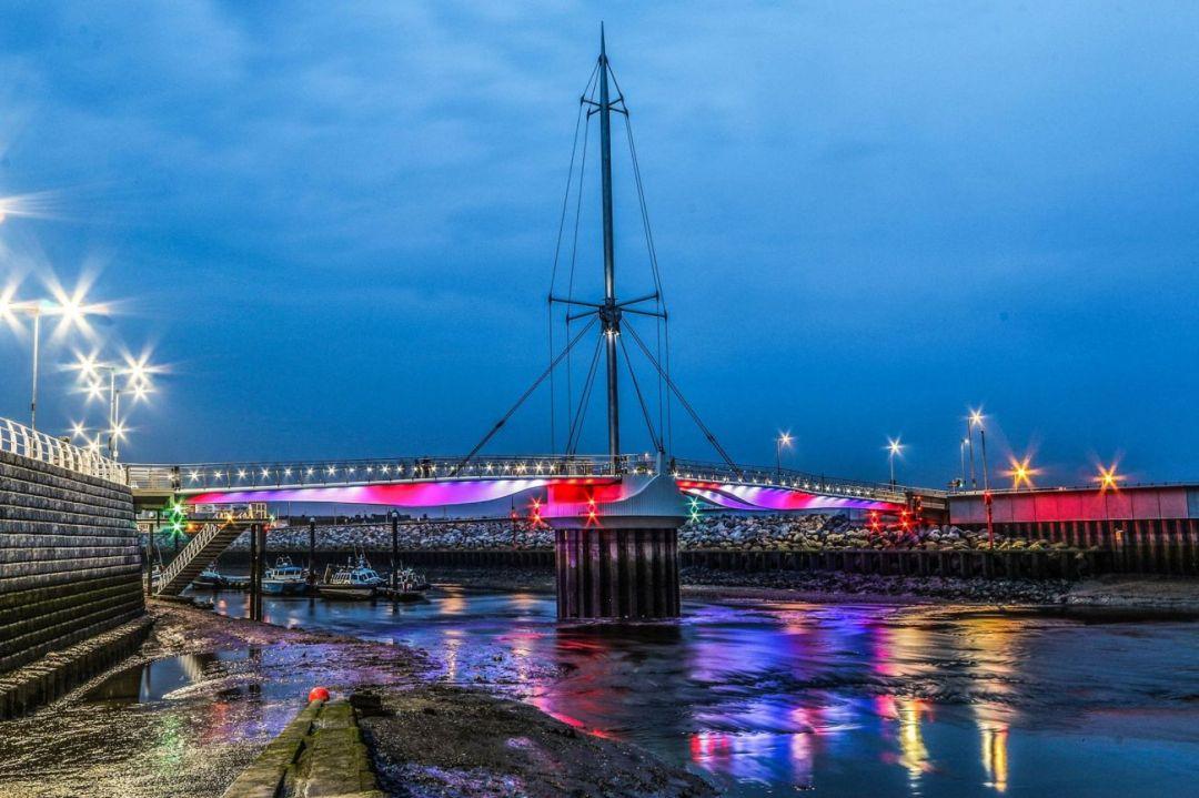Rhyl Harbour-Lit Up