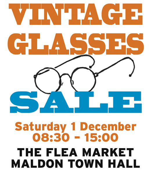 Vintage Glasses sale 1 December 2018