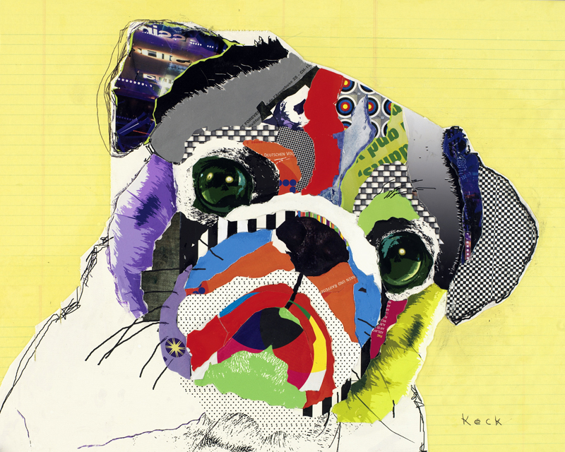 dog art pug