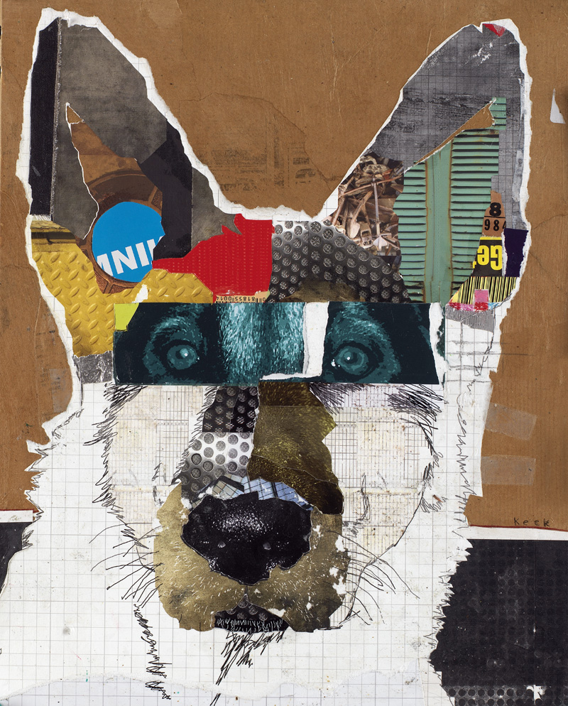 dog art german shepherd art collage