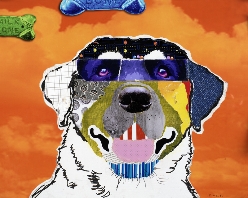 labrador dog collage pop art by michelkeck.com