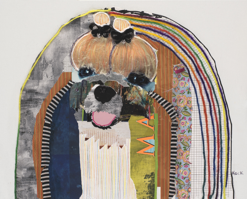 dog art maltese pop art collage
