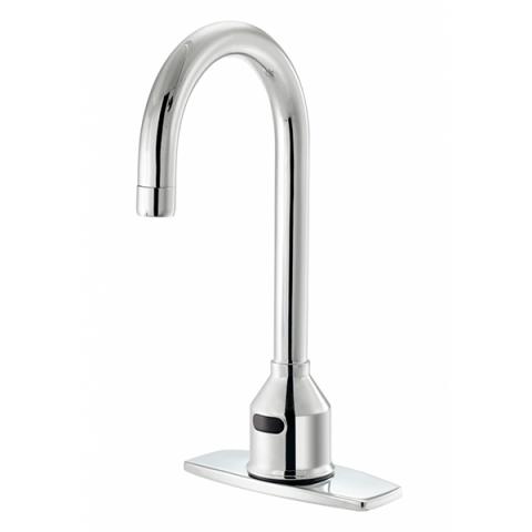 krowne 16 650p electronic deck mount faucet with 6 gooseneck spout deck plate