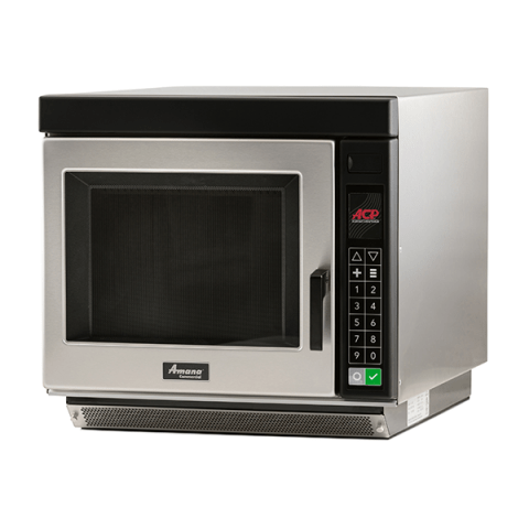amana rc17s2 heavy duty stainless steel commercial microwave oven with push buttons 208 240v