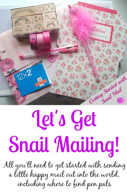 Getting Started with Snail Mail - what you'll need and where to find pen pals