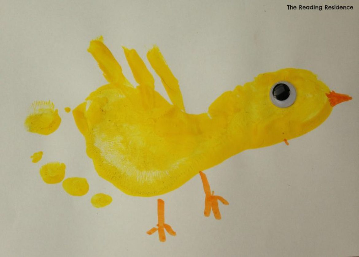 Easter Chick Card Completed