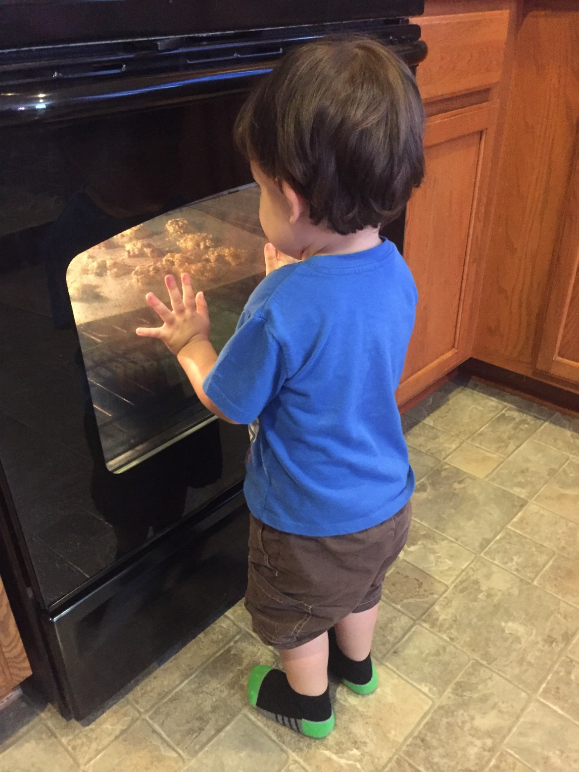 Quality time making Healthy cookies