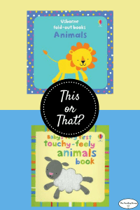 This or That? Animal Books for your brand new baby!