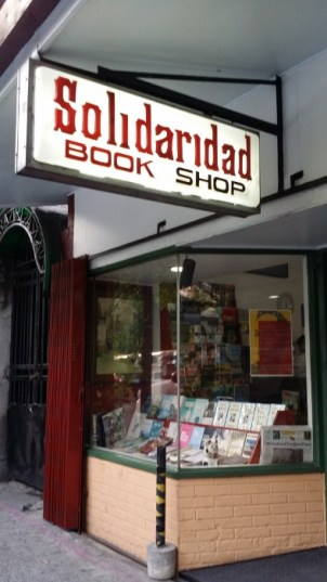 The little store with shelves of literary trasures: Solidaridad Book Shop.