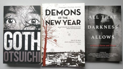 """Get your horror on with """"Goth"""", """"Demons of the New Year"""", and """"All that Darkness Allows""""."""