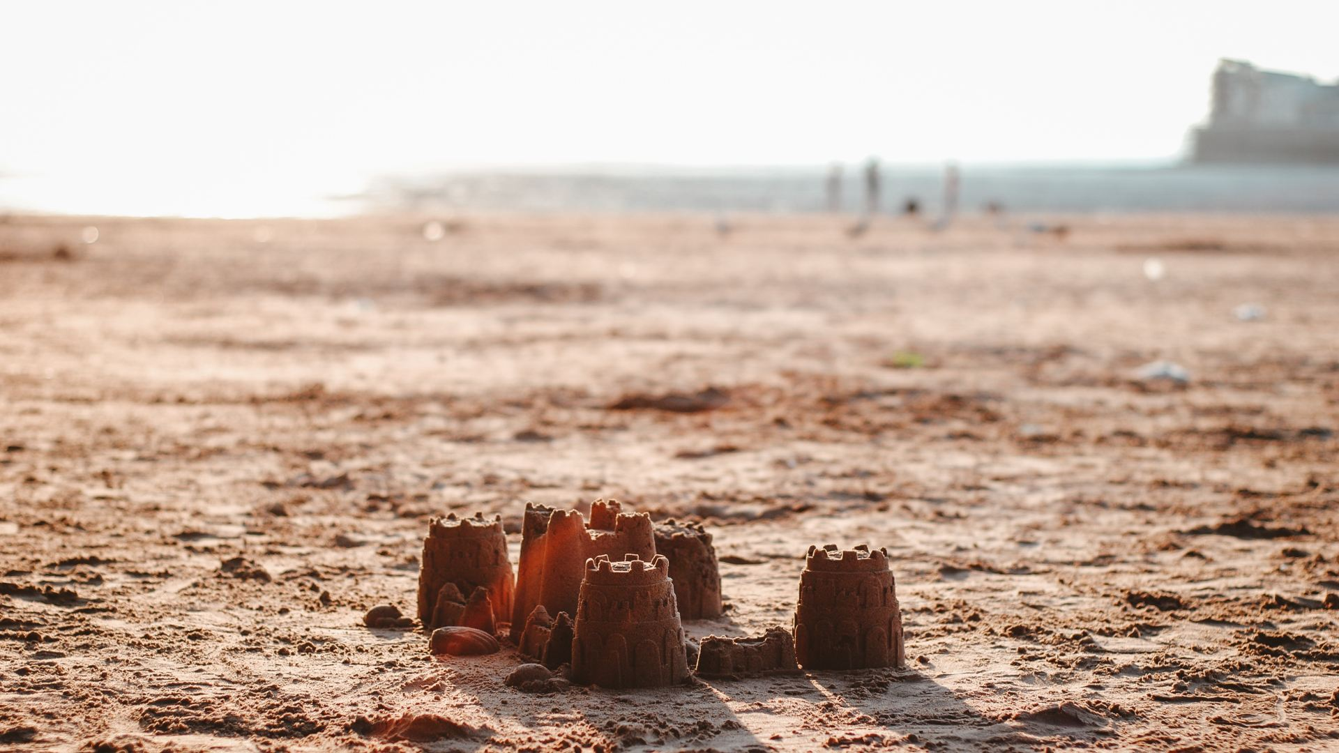 an example of how to build the perfect sandcastle