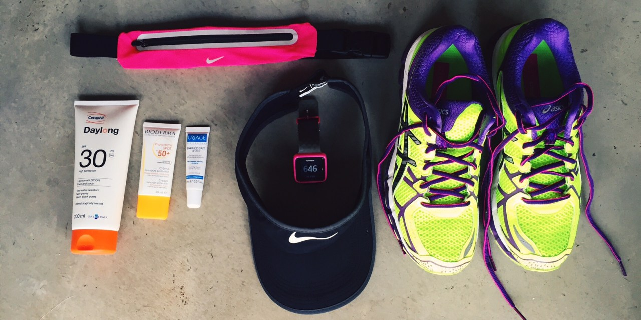 My running essentials in summer