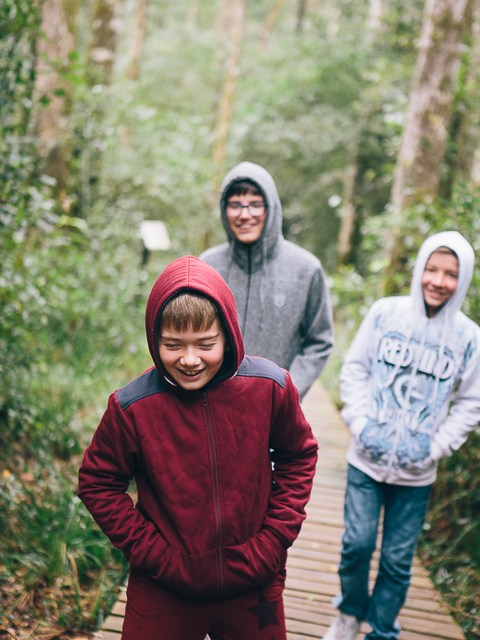 Exploring Knysna forests and the Heads with the boys