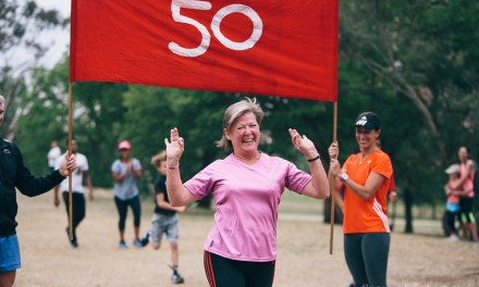 Celebrating my mom's 50 parkruns