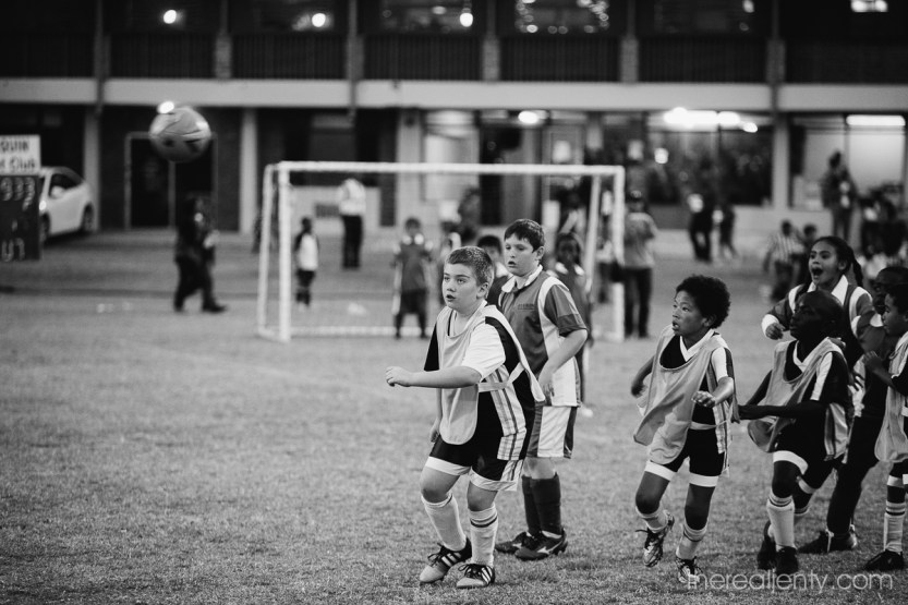 Inter school soccer BW 002